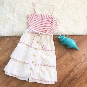 Anthropologie Maeve Cotton tiered summer dress